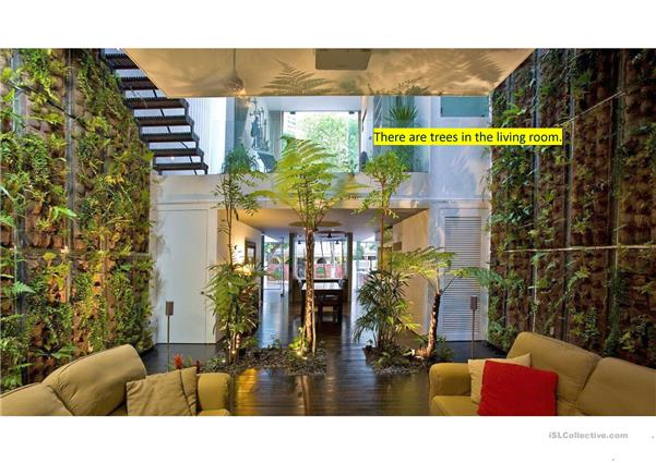 Extreme interiors - Describe pictures using there is/there are construction, prepositions of place