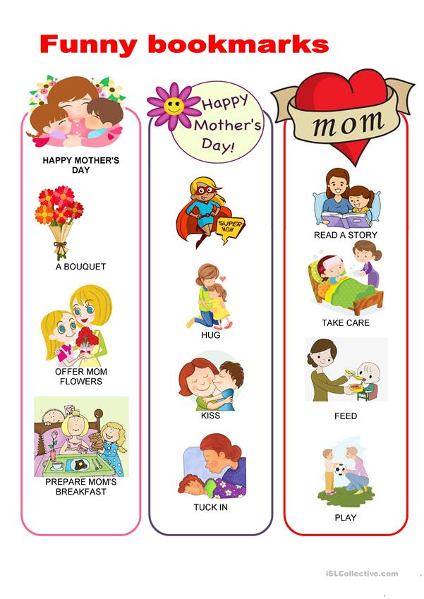 Funny bookmarks - Mother's Day