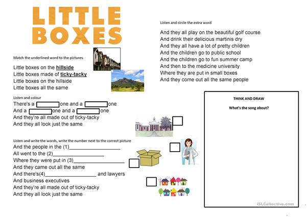Little Boxes (Walk of the Earth Cover) -Song- Elementary