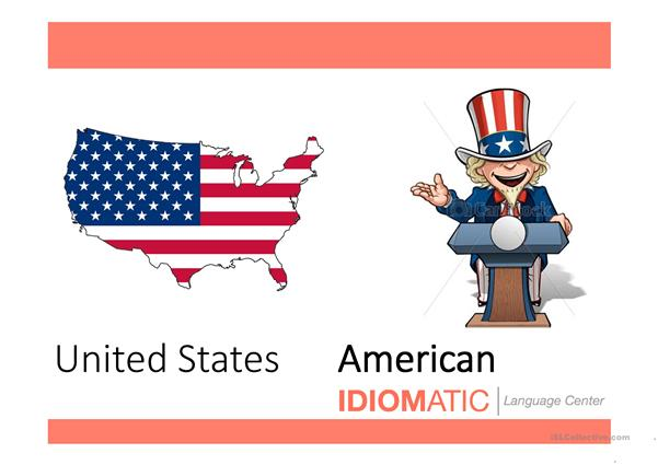 Nationalities and countries Vocabulary PPT