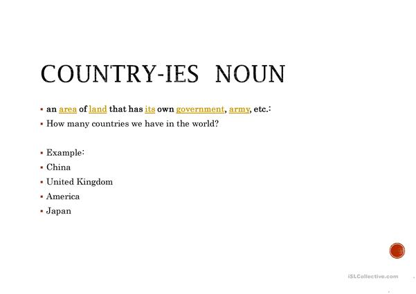 Nationality and countries