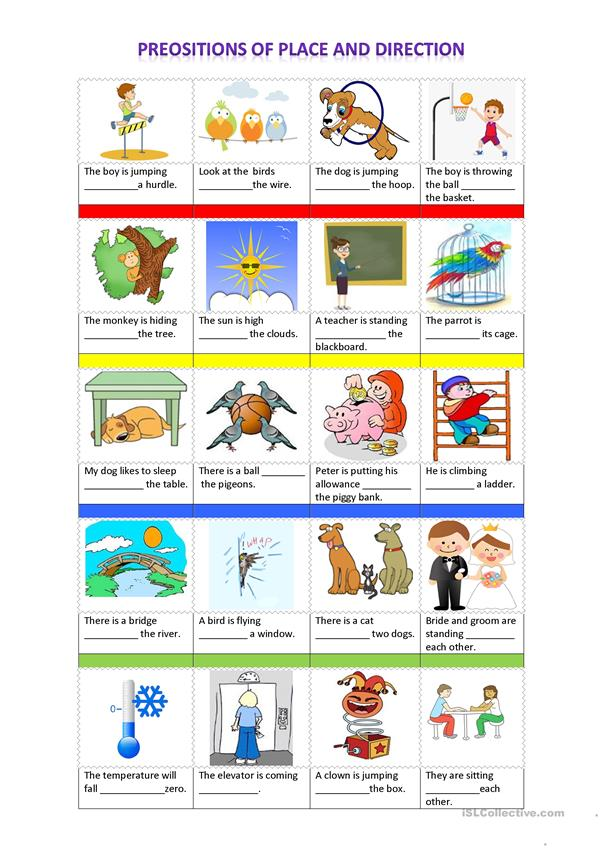Prepositions of Place and Directions