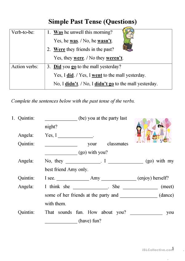 Simple Past Tense (Questions)