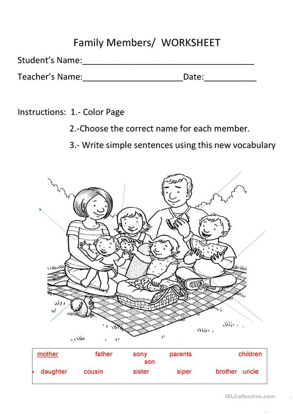 family-member-worksheet-worksheet-templates-layouts_107466_1 Color Worksheet Jobs on grade 1 efl, 6th-grade steve, for contractors,