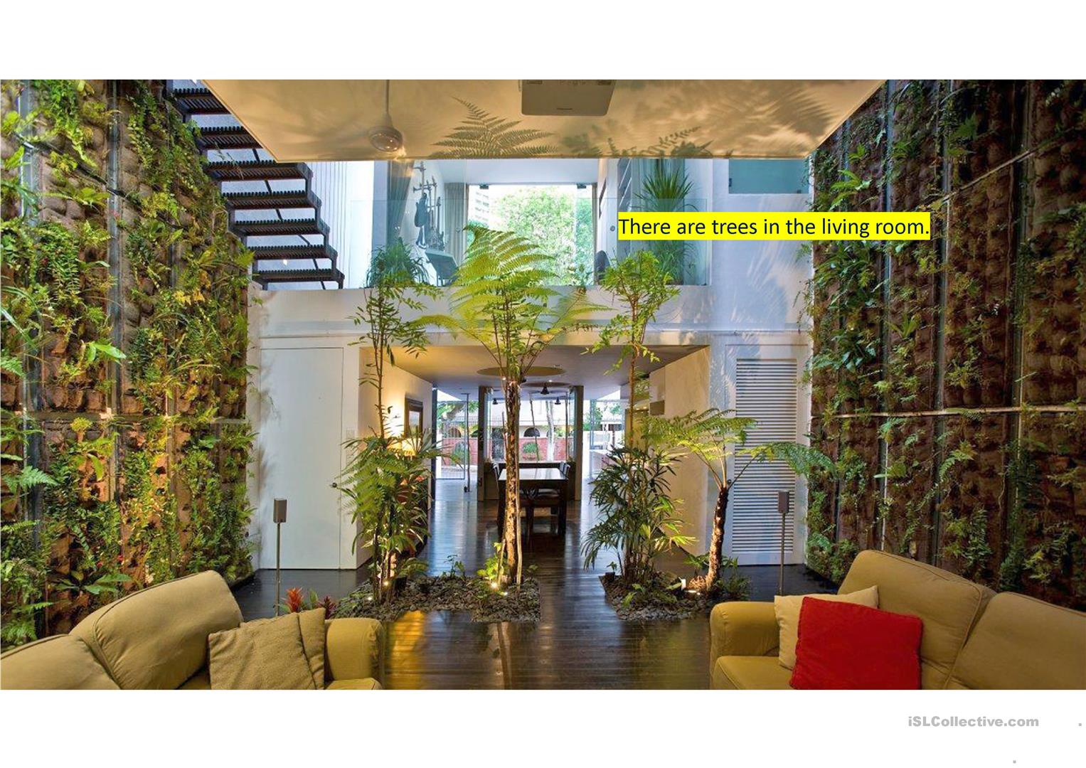 Extreme interiors - Describe pictures using there is/there are ...