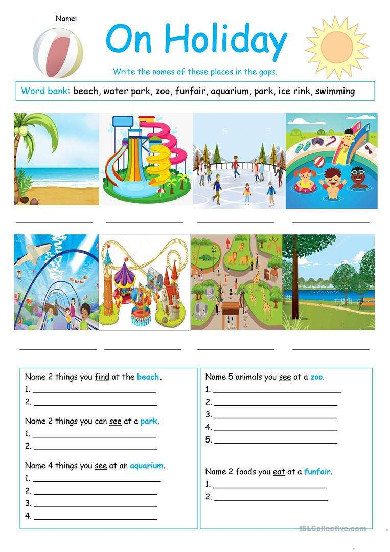 on holiday worksheet english esl worksheets. Black Bedroom Furniture Sets. Home Design Ideas