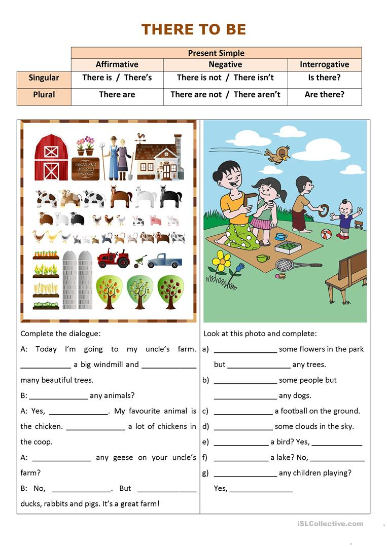 There to Be - English ESL Worksheets