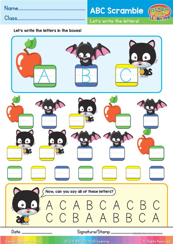 ABC Phonics Scramble - Uppercase ABC - BINGOBONGO Learning