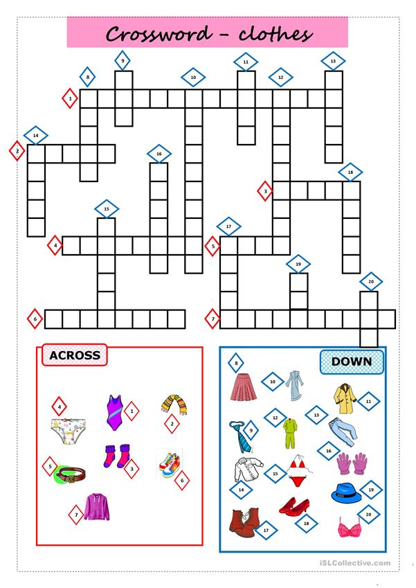 CROSSWORD: CLOTHES