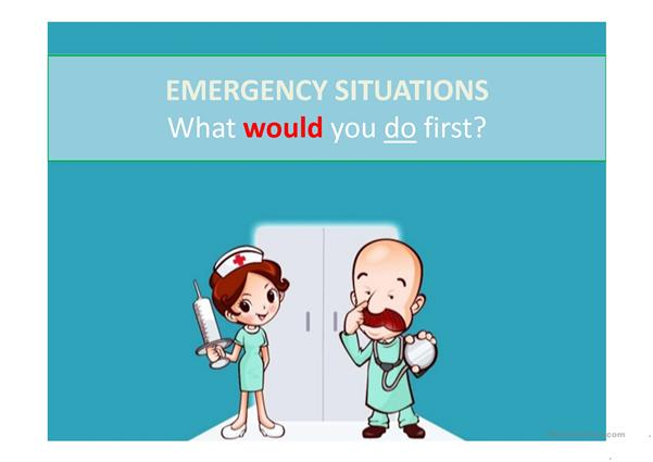 Emergency situations. What WOULD you first? (Unreal conditional type 2)