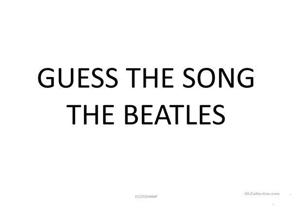 Guess the Song  (The Beatles) Images