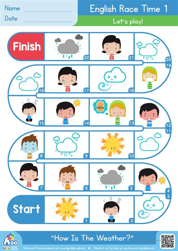 How Is The Weather? - ESL Board Game