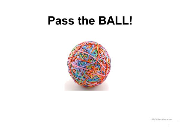 PASS THE BALL elementary questions