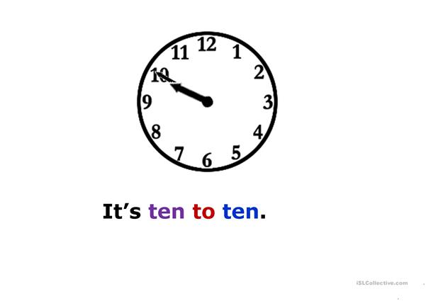 Practise telling the time 2