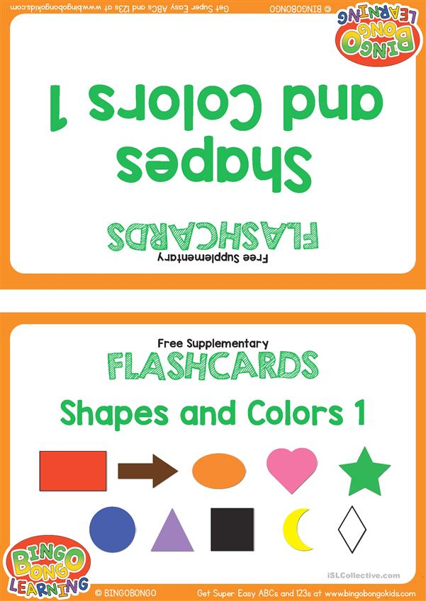 Shapes and Colors Flashcards - BINGOBONGO