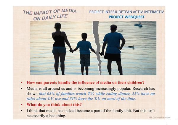 The impact of media on daily life