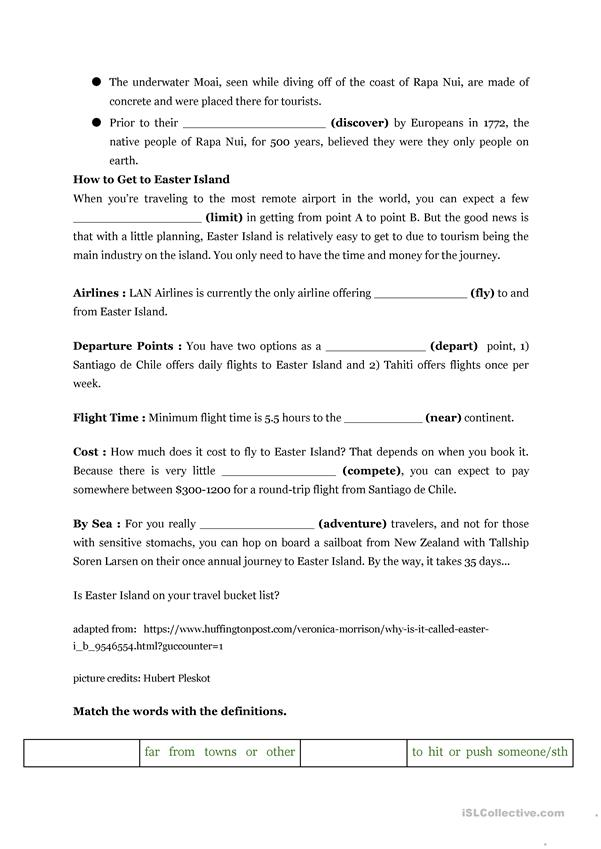 the lesson of easter island essay Jumpstart's 'easter essay' is a great way of getting your third graders to  preschool lesson  knowledge adventure announces escape from adventure island.