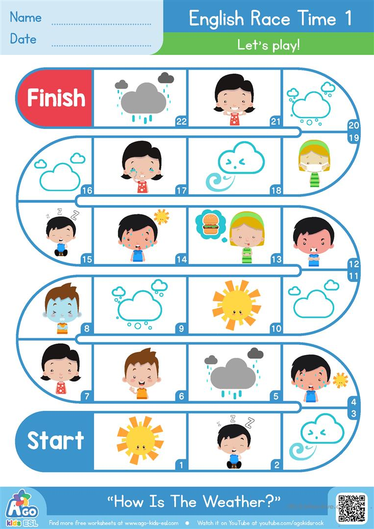 how is the weather esl board game worksheet free esl printable worksheets made by teachers. Black Bedroom Furniture Sets. Home Design Ideas