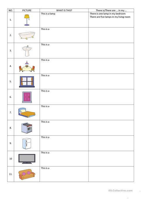 There Isthere Are In My Home Worksheet Free Esl Printable
