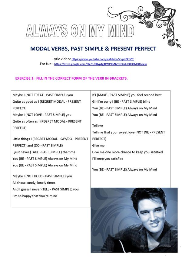 Always On My Mind (Modals, Past Simple & Present Perfect)