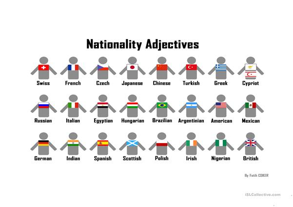 Nationality Adjectives