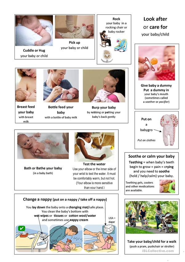 new baby/child vocabulary and phrases