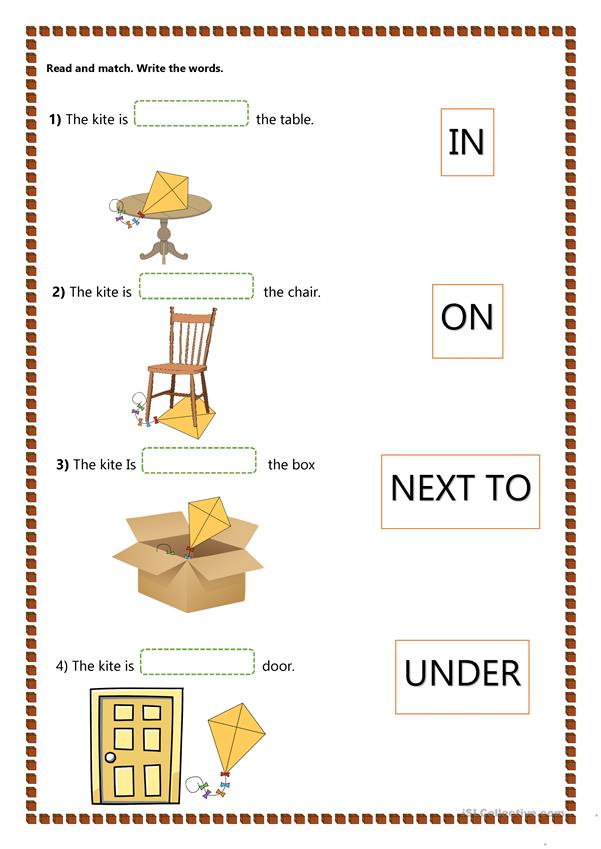Prepositions of Place - Kids - English ESL Worksheets