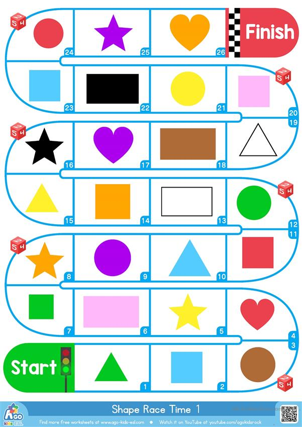 Shapes & Colors Race Time - BINGOBONGO Learning