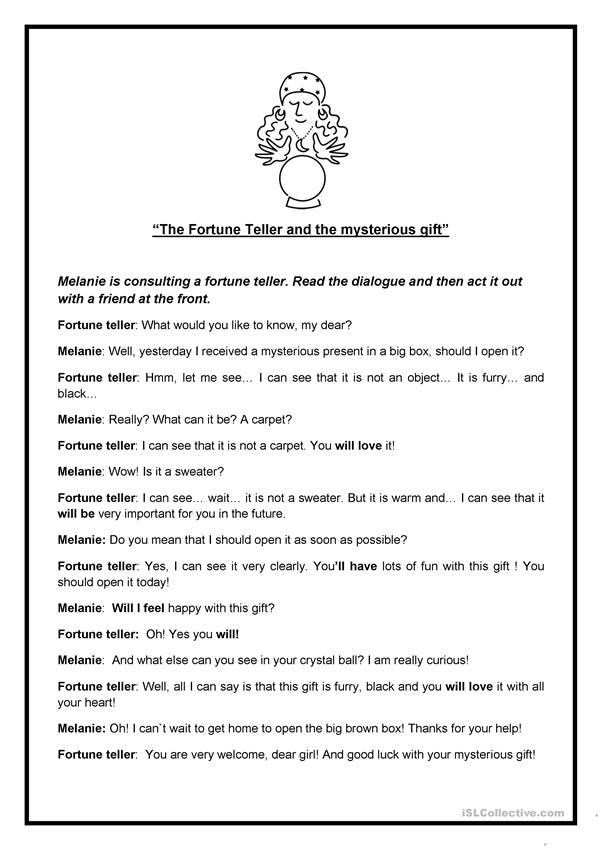 The Fortune Teller and the mysterious gift - English ESL