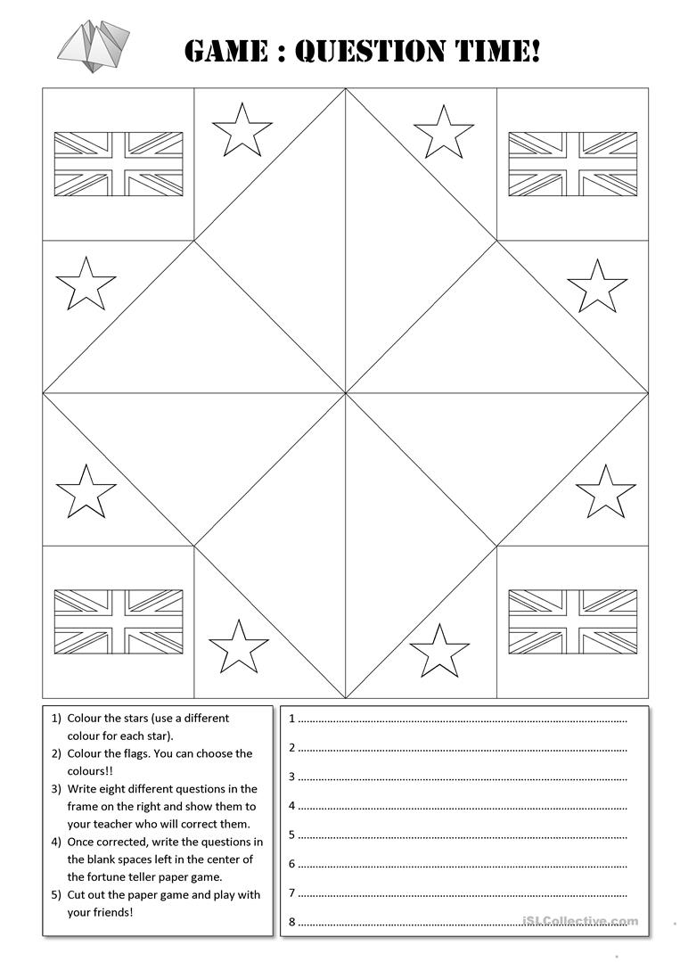 fortune teller paper game template worksheet free esl printable worksheets made by teachers. Black Bedroom Furniture Sets. Home Design Ideas