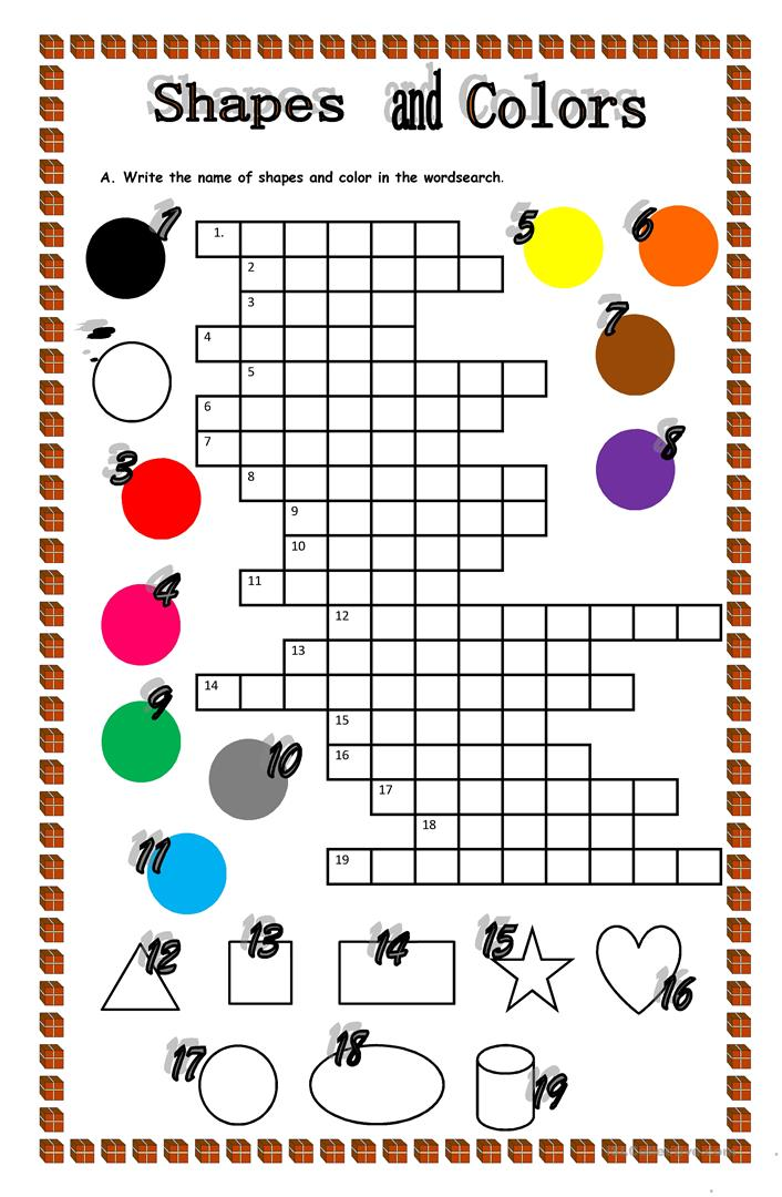 Shapes And Colors - English ESL Worksheets For Distance Learning And  Physical Classrooms