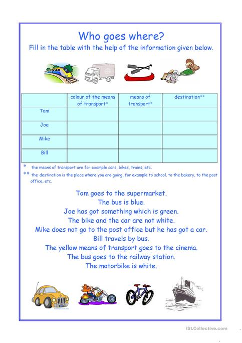 Who goes where? worksheet - Free ESL printable worksheets made by ...