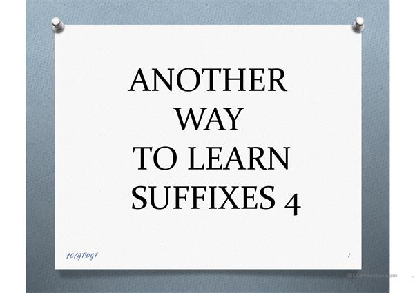 ANOTHER WAY TO LEARN SUFFIXES 4 FC/GTDGT