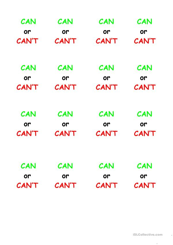 Can or Can't?