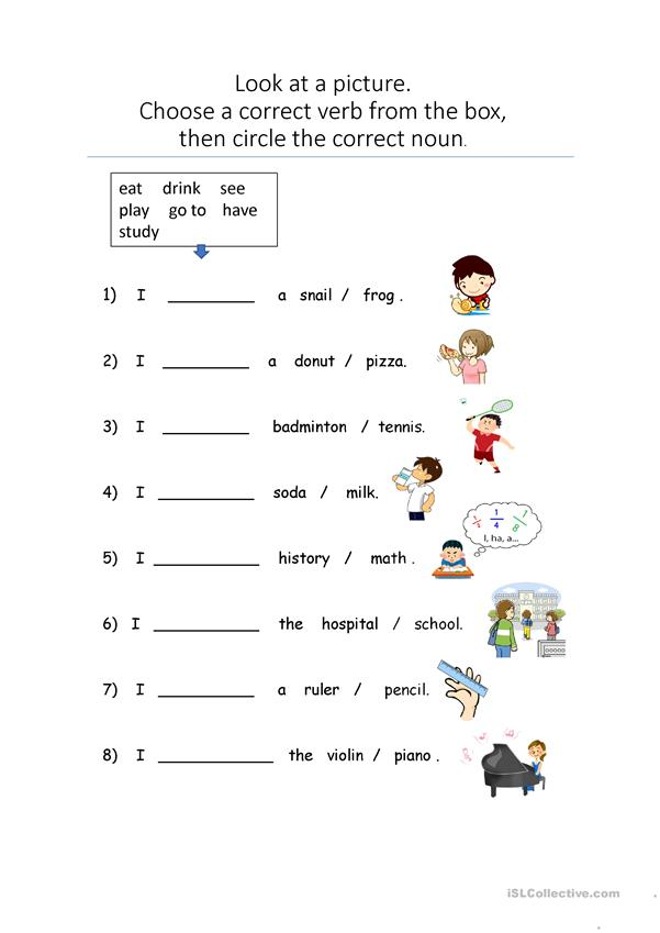 Describe pictures_Basic verbs