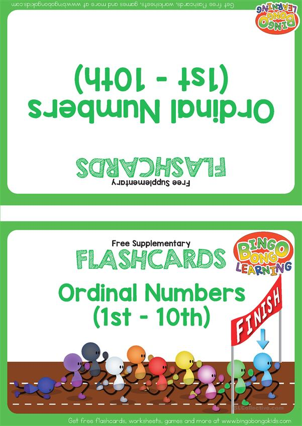 Ordinal Numbers Flashcards - BINGOBONGO