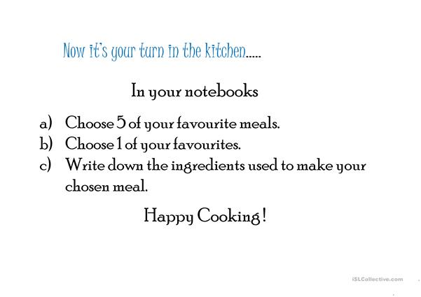 The Wonderful World of Cooking