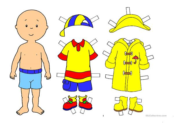 WEATHER CARD GAME Caillou Gets Dressed