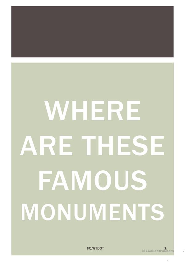 Where are these Monuments FC/GTDGT