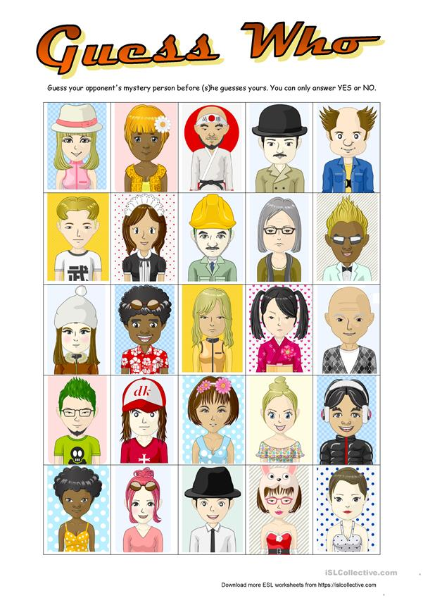 Lively image throughout guess who printable