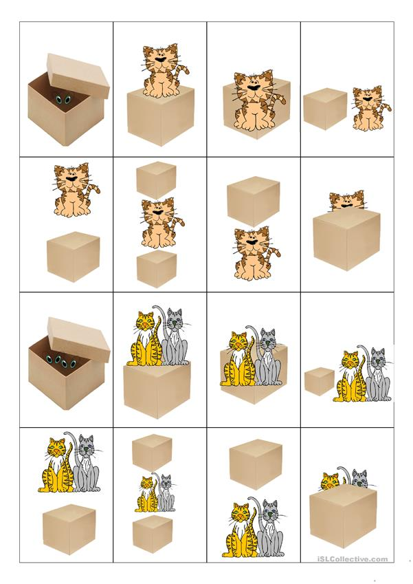 Card game - Prepositions of Place