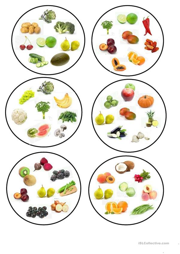 Dobble fruit and vegetables.