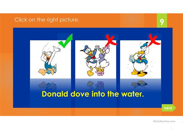 DONALD DUCK PAST SIMPLE
