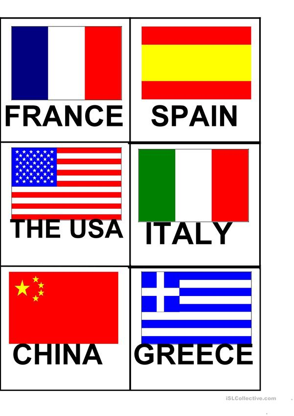 Flags and Countries Flashcards