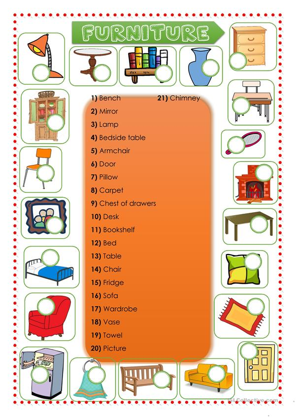 FURNITURE / Prepositions / Has got