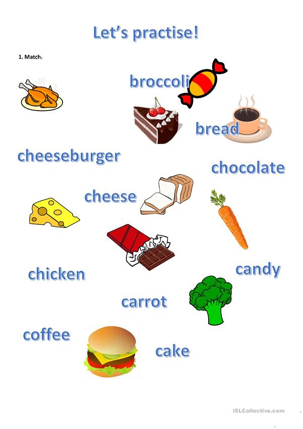 Learn some food vocabulary (1)