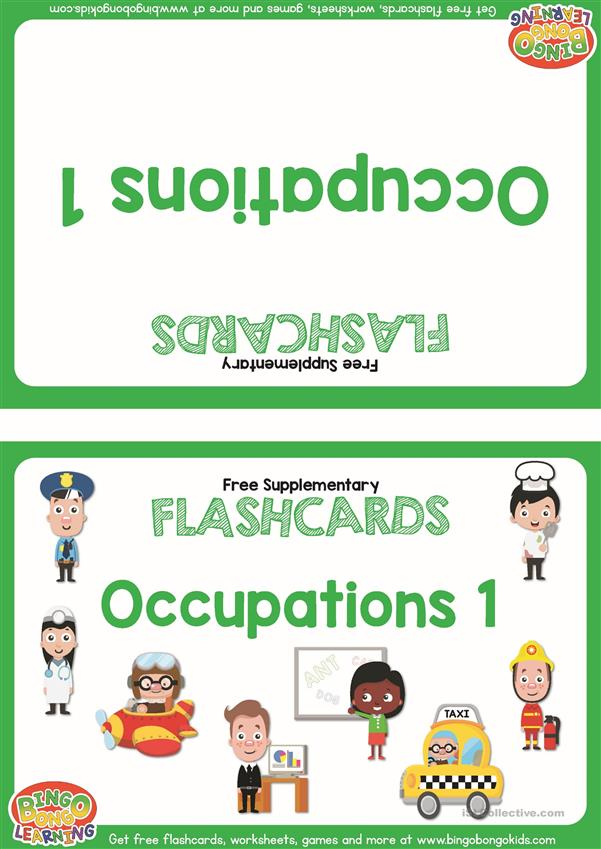 Occupations 1 Flashcards