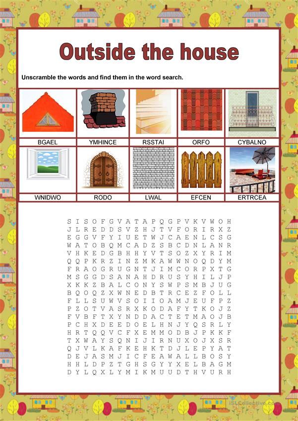 Wordsearch - The house