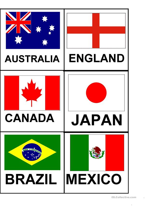 It's just a photo of Exhilarating Printable Country Flags