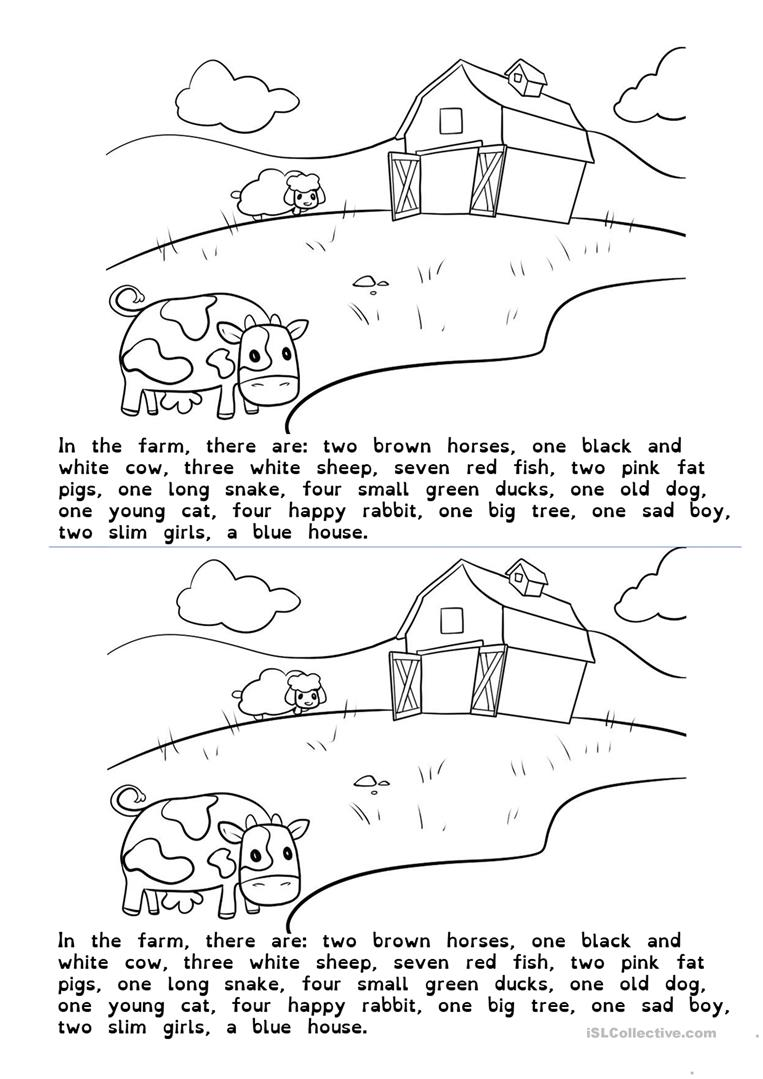 drawing in the farm worksheet free esl printable worksheets made African Tree Snake drawing in the farm